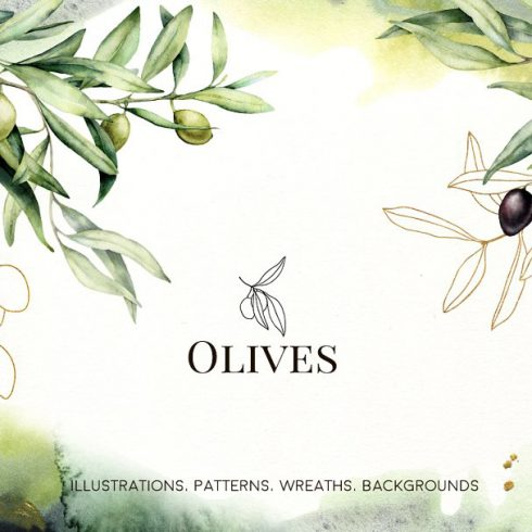 Olives Watercolor Collection - $15 - 600 30 490x490