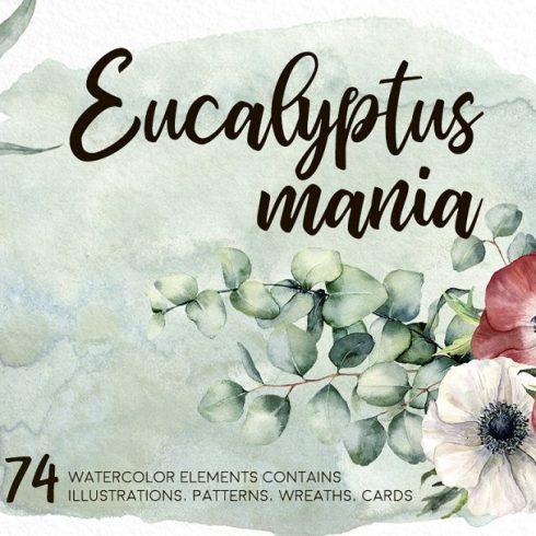 Eucalyptus Mania Watercolor Bundle - $16 - 600 4 490x490