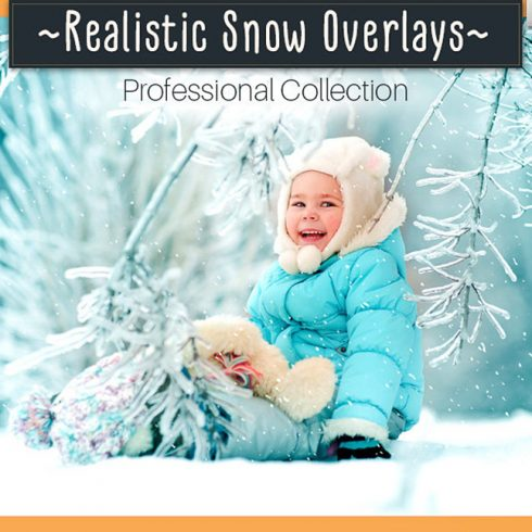 52 Realistic Snow Photo Overlays - 600 490x490
