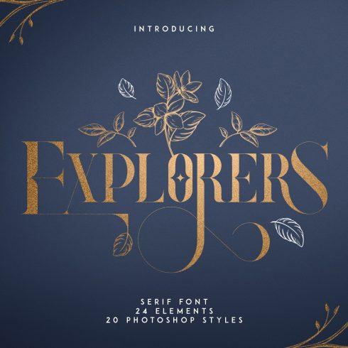 Explorers Serif font + Extras - $19 - 600 6 490x490