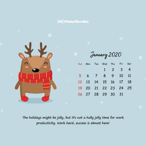 Free January 2020 Printable Calendar & Wallpapers - New Year, New Beginnings - 600 7 490x490