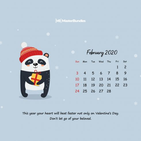 Free February 2020 Printable Calendar & Wallpapers – Spread The Love! - 600 8 490x490