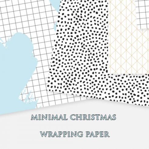 Free Minimal Christmas Wrapping Paper - 600 9 490x490
