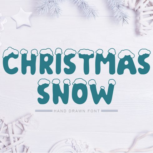 Christmas Snow Hand Drawn Font - $9 - 602 490x490