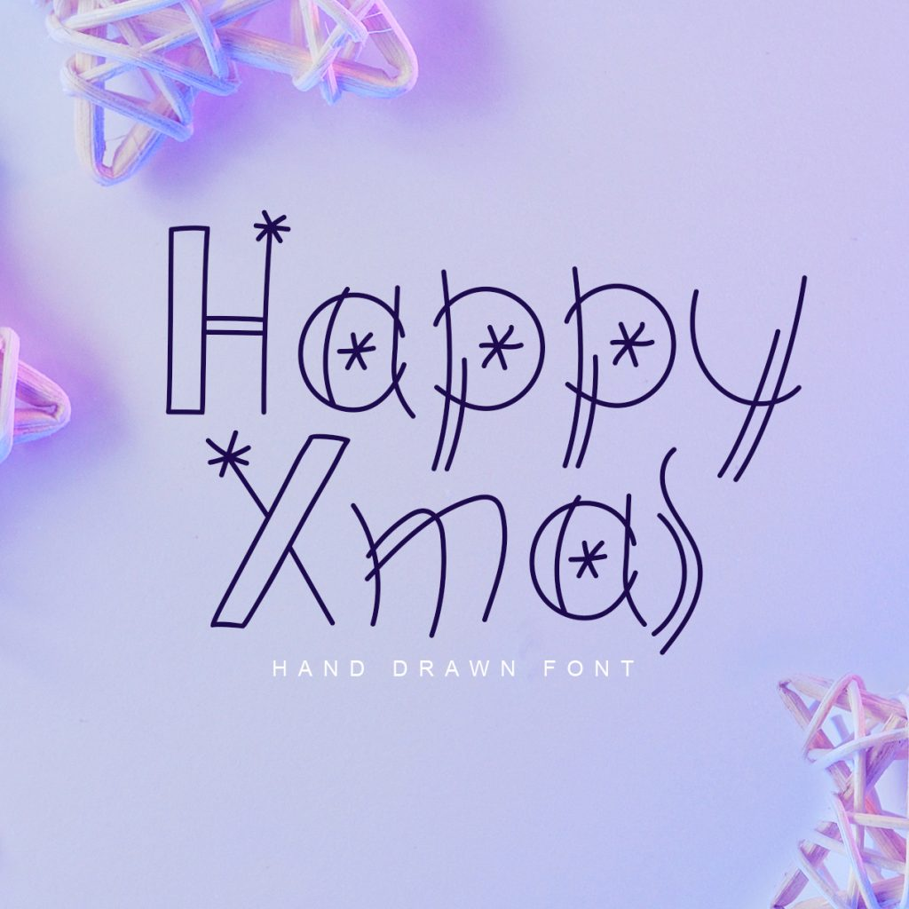 Merry Christmas Lettering: Christmas Draw Lettering Objects - 604