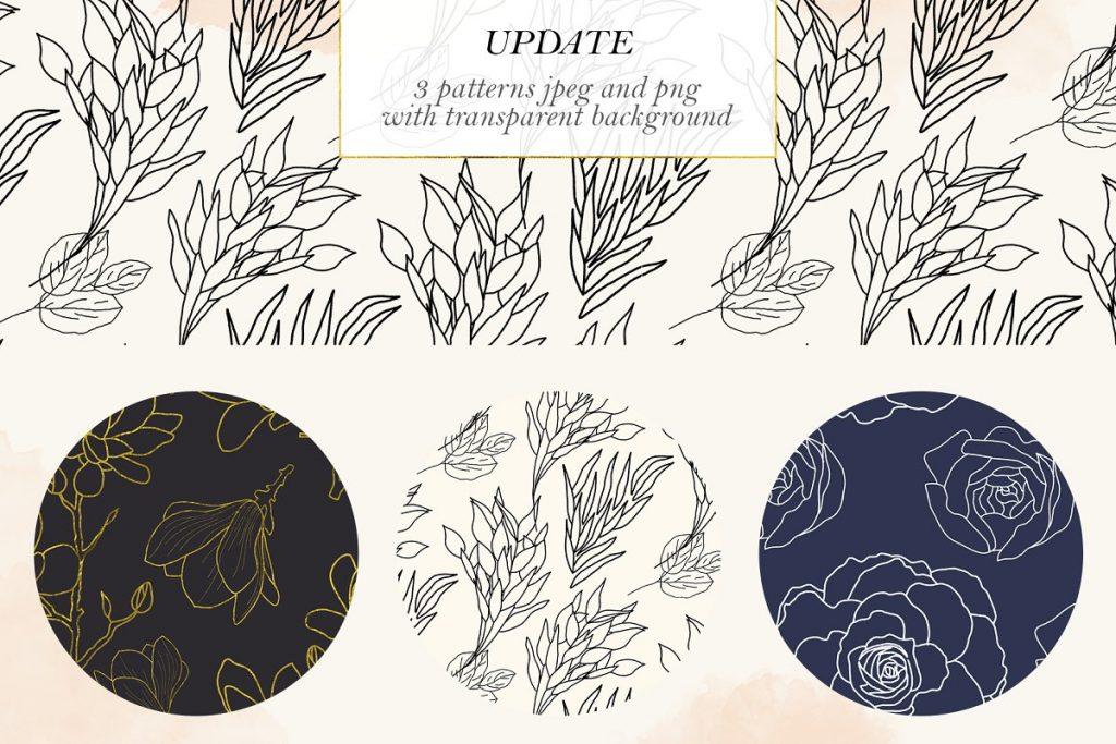 Best Botanical Pattern in 2020: Illustrations, Textures, Frames & Shapes - $18 - 7 1 1