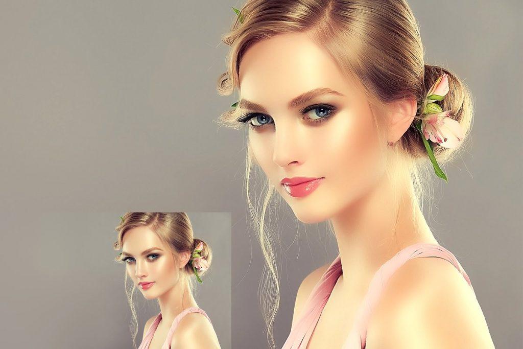 50 Photoshop Actions Retouching Skin BUNDLE, Swatches, Brushes - 9 1 2