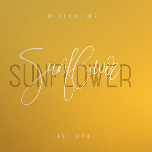 Sunflower Font Duo - Just now $19 - Untitled 1 9 490x490