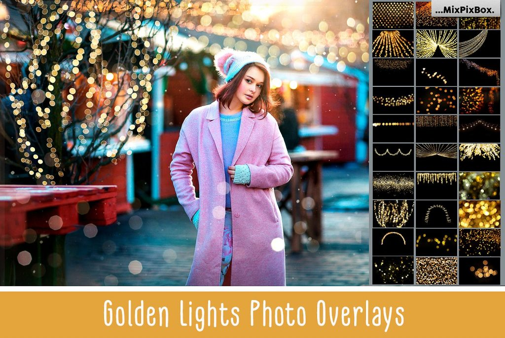 100 Golden Lights Photo Overlays - $9 - cover 4