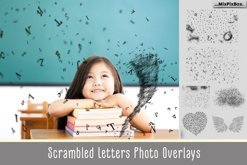 24 Scrambled Letters Photoshop Brushes - cover 5