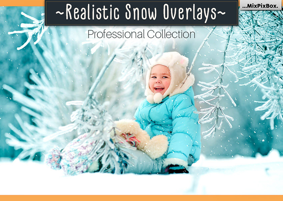 52 Realistic Snow Photo Overlays - cover