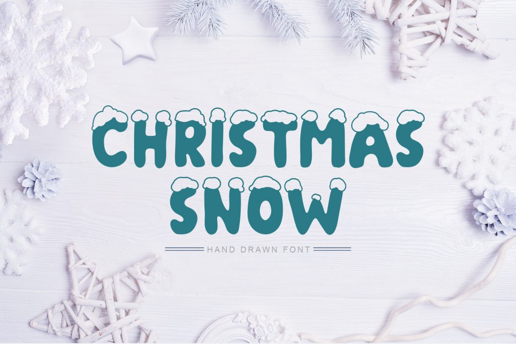 Christmas Snow Hand Drawn Font - $9 - title01 2