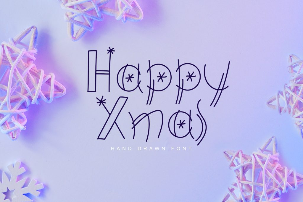 Happy Xmas Hand Drawn Font - $9 - title01 4