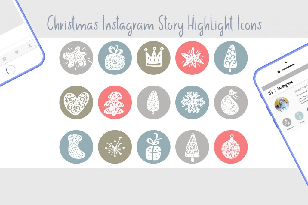 Christmas Instagram Highlight Story Icons - $9 - title02 1