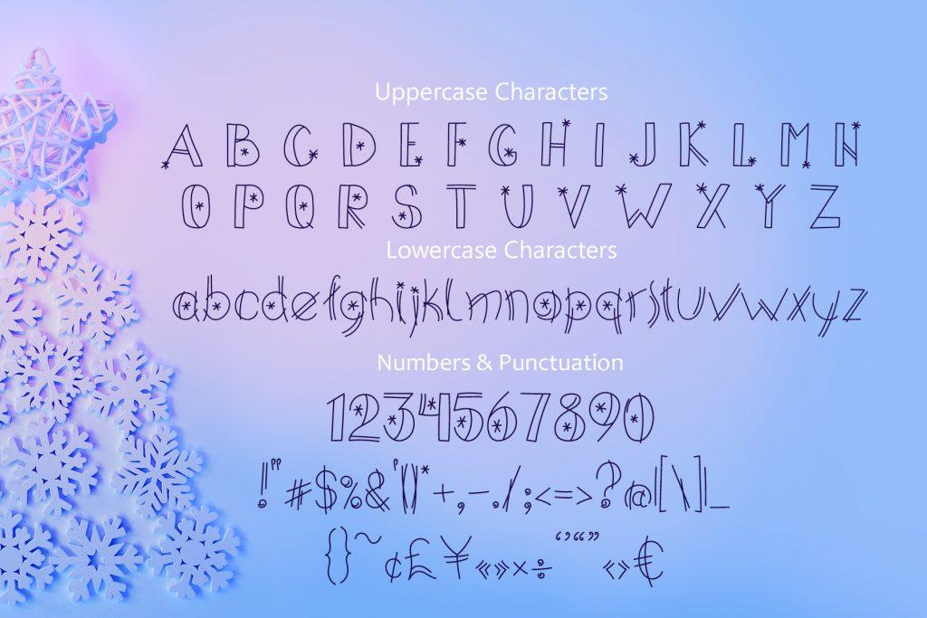 Happy Xmas Hand Drawn Font - $9 - title04 4