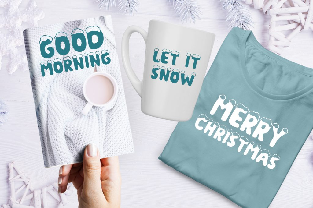 Christmas Snow Hand Drawn Font - $9 - title06 1