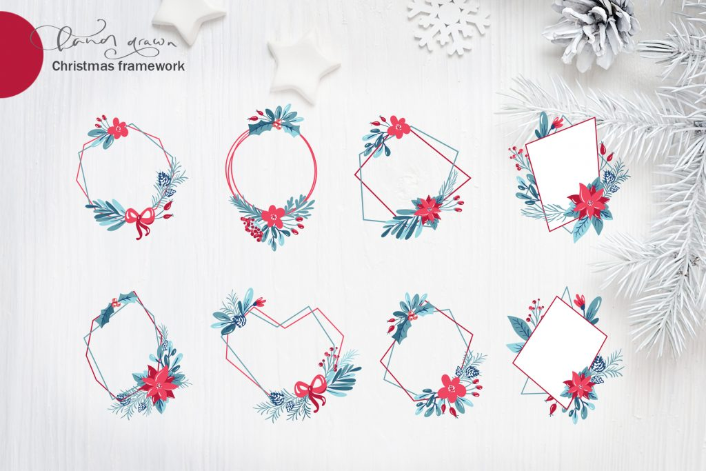 Christmas Floral Holiday Elements - $9 - title06