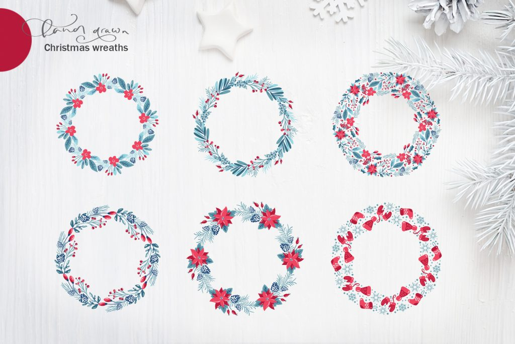 Christmas Floral Holiday Elements - $9 - title07