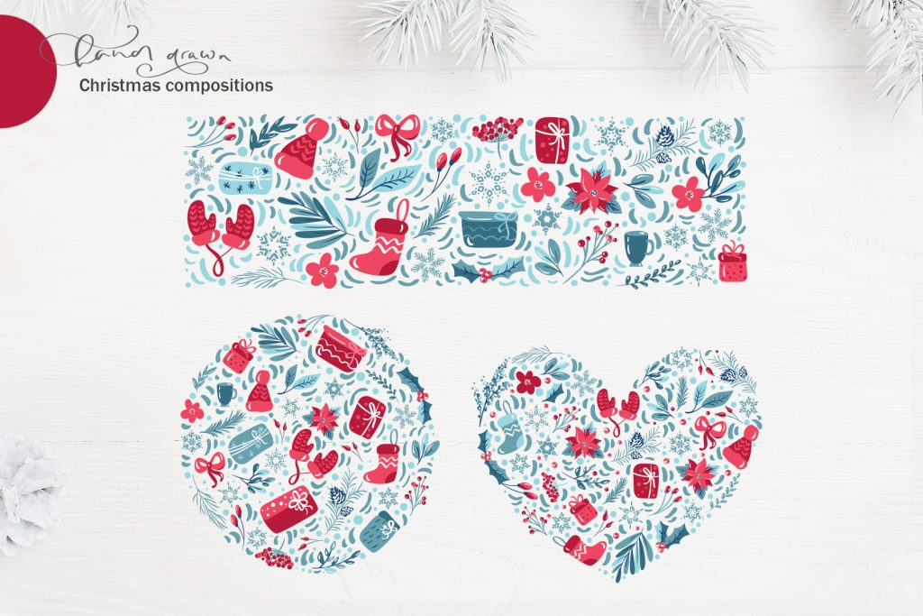 Christmas Floral Holiday Elements - $9 - title08