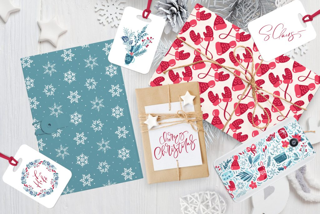 Christmas Floral Holiday Elements - $9 - title11
