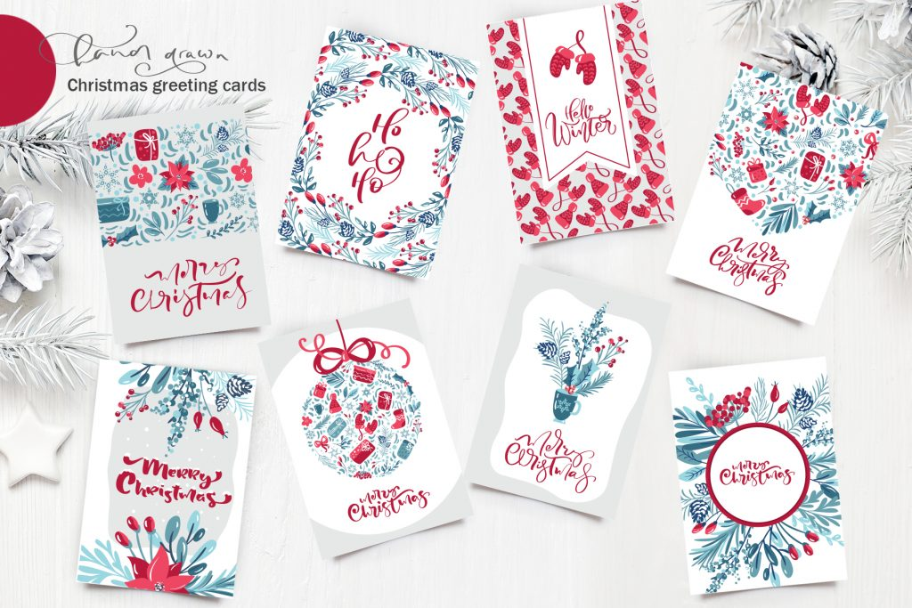 Christmas Floral Holiday Elements - $9 - title12