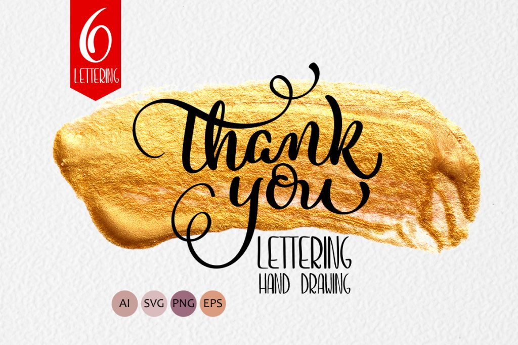 Thank You Calligraphy Lettering Collection - $4 - title 1