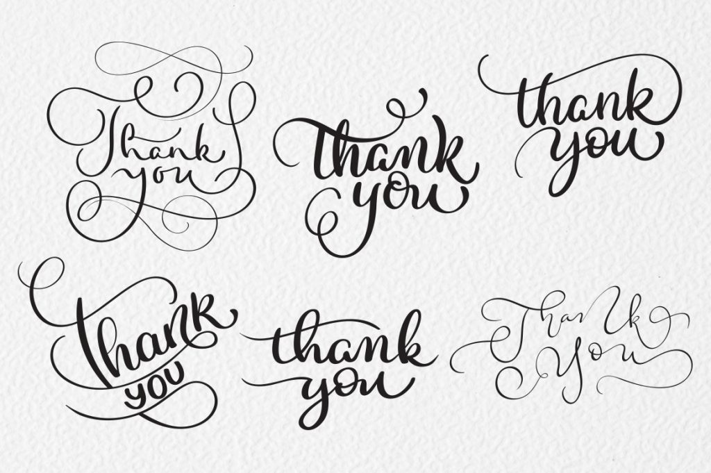 Thank You Calligraphy Lettering Collection - $4 - title 5