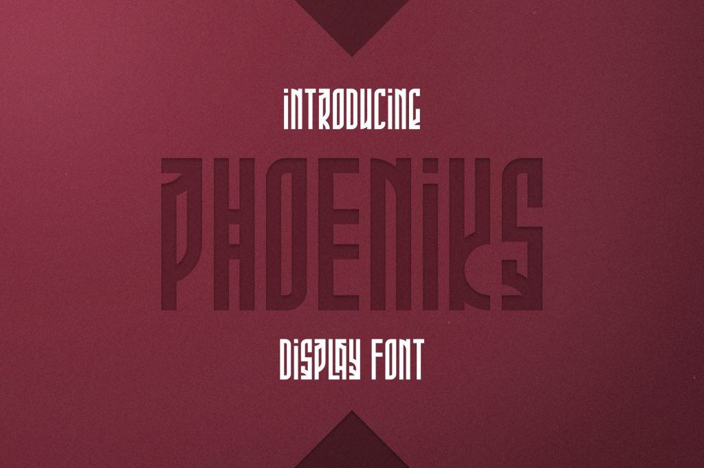 Phoeniks Display Font - $15 - 1 3