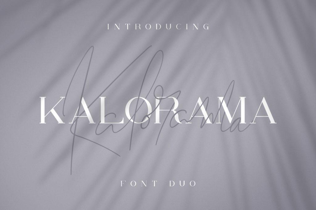 Kalorama Font Duo (serif and script) - $19 - 1 6