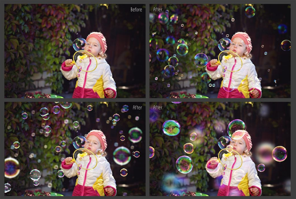 100 Bubbles Photoshop Overlays - $8 - 3 11