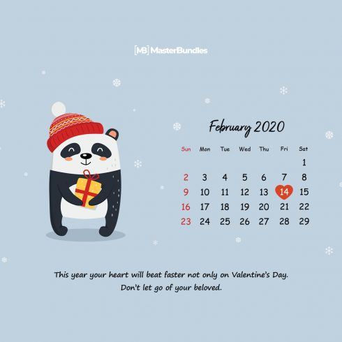 Free February 2020 Printable Calendar & Wallpapers – Spread The Love! - 600 14 490x490