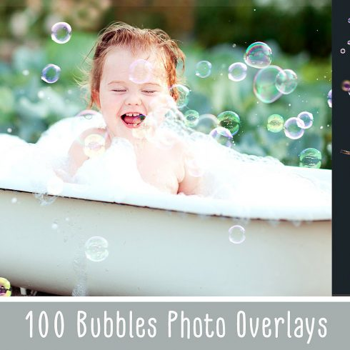 100 Bubbles Photoshop Overlays - $8 - 600 20 490x490