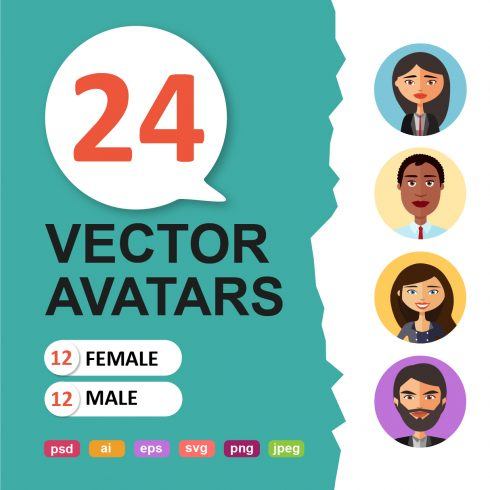 Vector Avatars Cartoon - $12 - 600 3 490x490