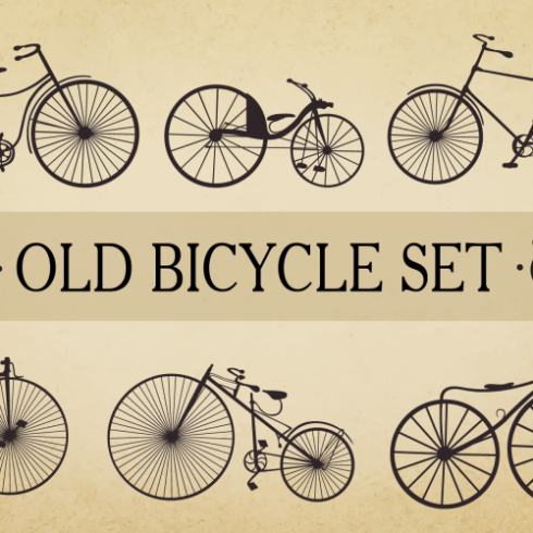 Bicycle Vector Set Old - $10 - 600 490x490