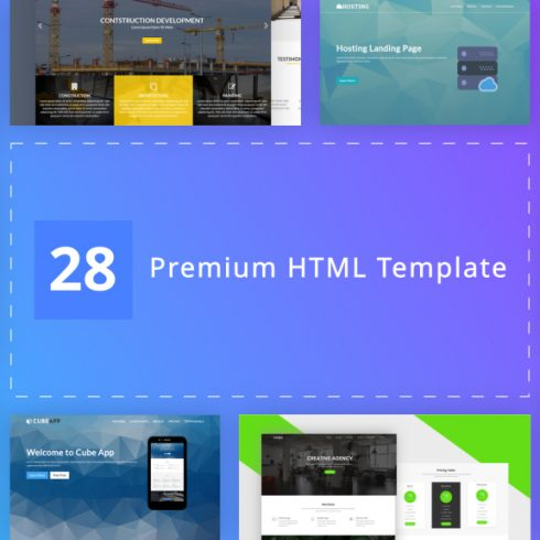 28 Premium HTML Templates Bundle - $5 - 600 9 490x490