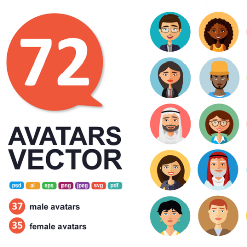 24 People Cartoon PNG: Avatars Cartoon People Vector Business - 601 490x490