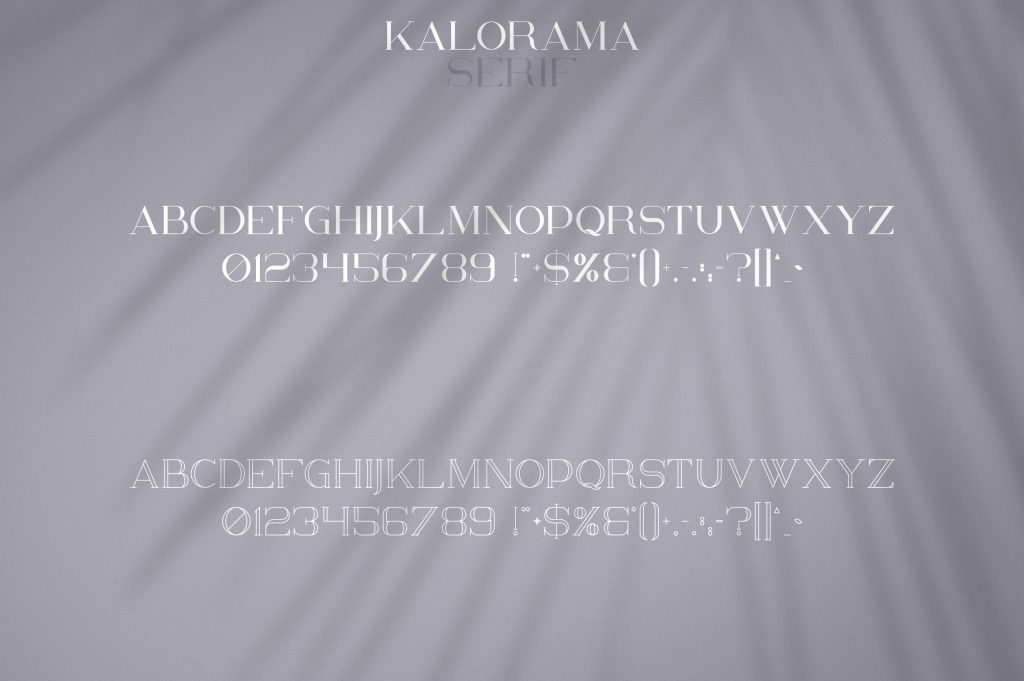 Kalorama Font Duo (serif and script) - $19 - 8 1