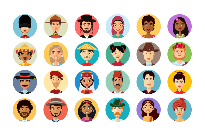 24 Multicultural National Avatar Pictures People Cartoon Flat - 800 3602209 zjpfd1w7c3wn55xsxgdakki5nx5paz9eo6ow65tl 24 multicultural national avatars people cartoon flat