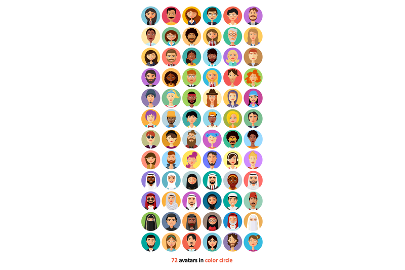 72 Avatar People Vector Icons Collection - Only $23! - 800 3670784 7tiym8pscrwu05y7ipjxuq3qp50538kdt3w6suns 72 avatar icons vector people collection