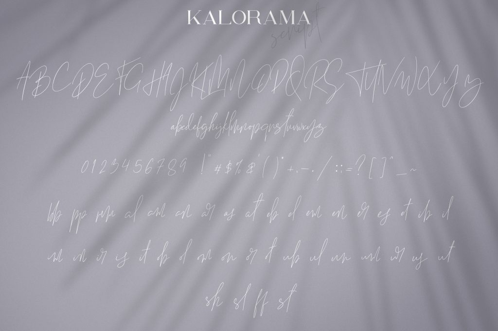 Kalorama Font Duo (serif and script) - $19 - 9 1