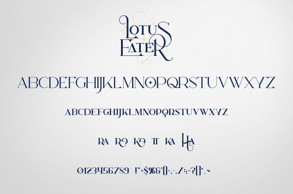 Lotus Eater Vintage Font + 52 Ornaments - 9 2