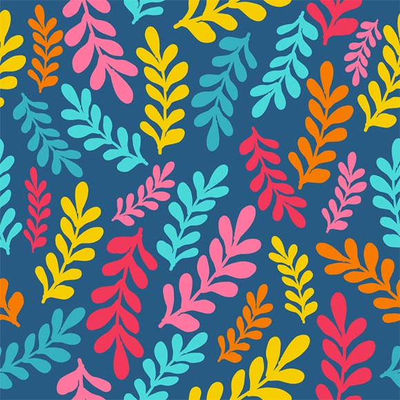 5 Free Floral Patterns from WowPatterns - Floral leaves pattern