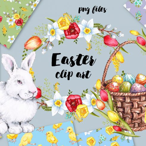 Best Free Easter Patterns: Egg and Bunny. Free Download - Untitled 1 490x490