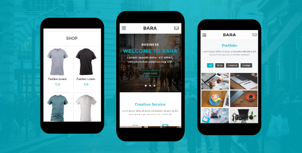 38+ Mobile Website Template Bundle: Themeforest Quality - bara