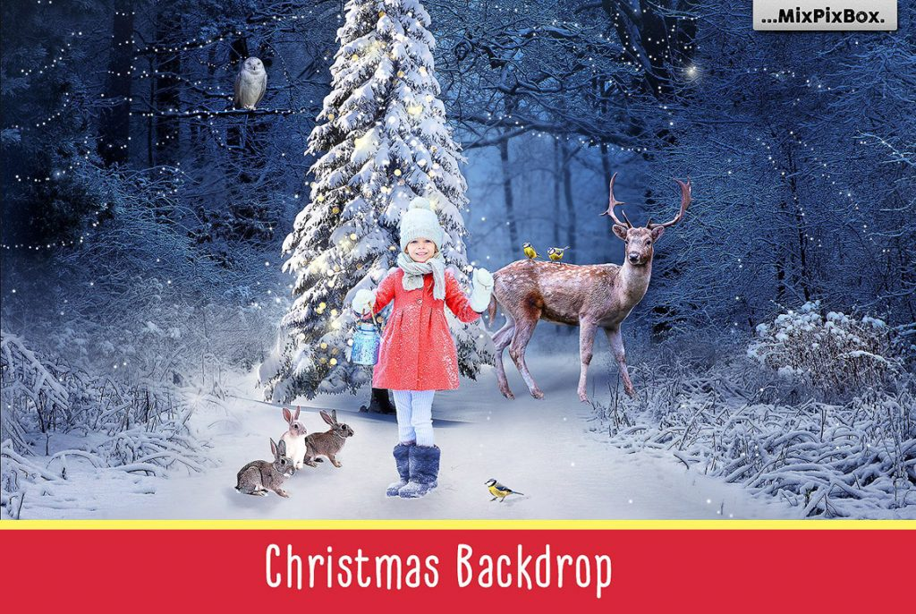 Huge Photo Editing Bundle - christmas backdrop first image