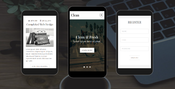 38+ Mobile Website Template Bundle: Themeforest Quality - clean