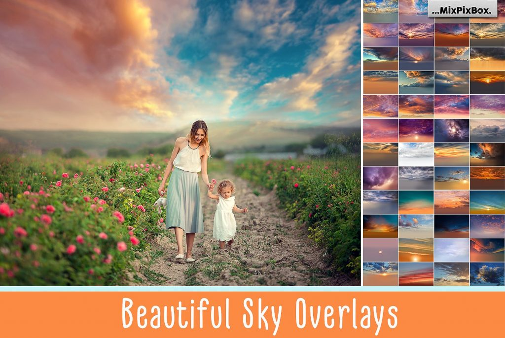 Beautiful Sky Photography Overlays - $8 - cover 1