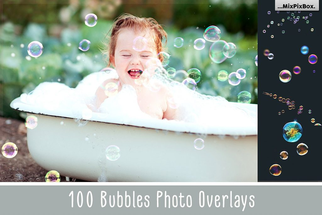 100 Bubbles Photoshop Overlays - $8 - cover 5