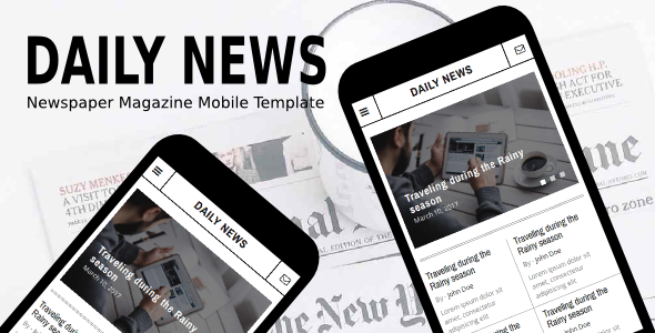 38+ Mobile Website Template Bundle: Themeforest Quality - daily news