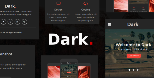 38+ Mobile Website Template Bundle: Themeforest Quality - dark